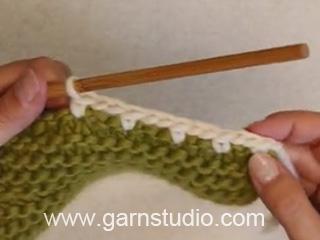 bordure au crochet en laine