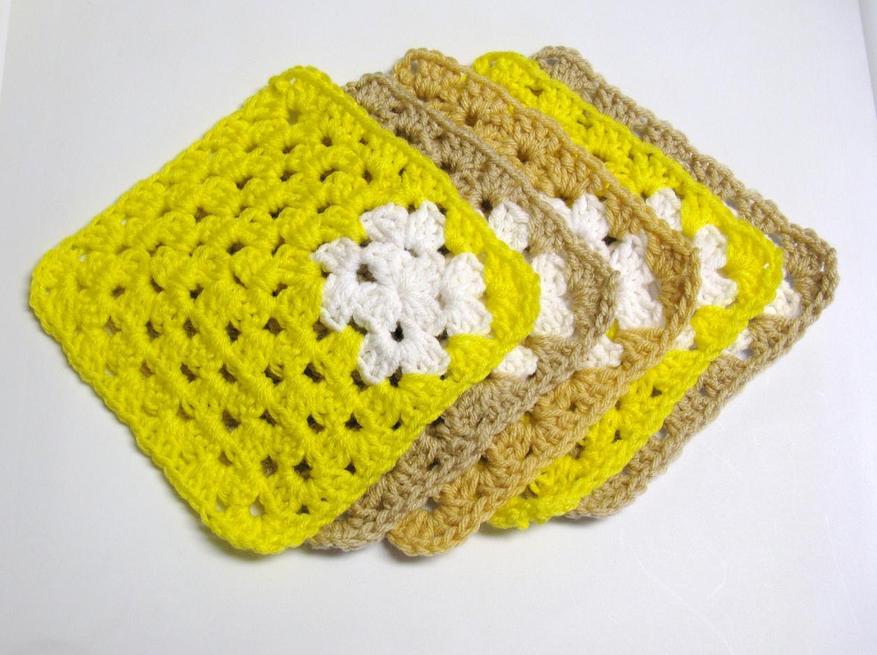 carres au crochet en laine