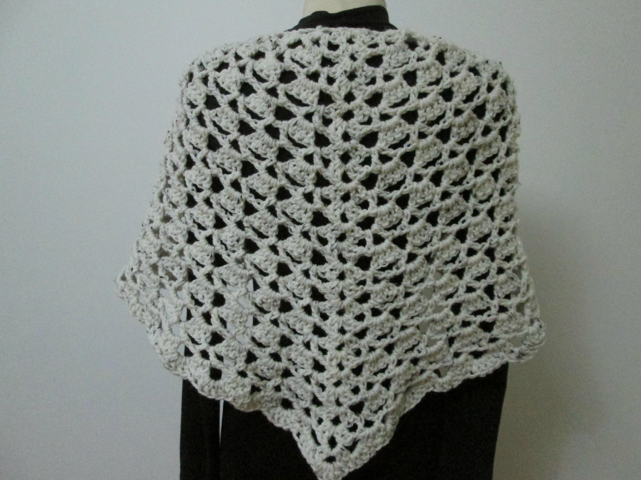 chale crochet grosse laine