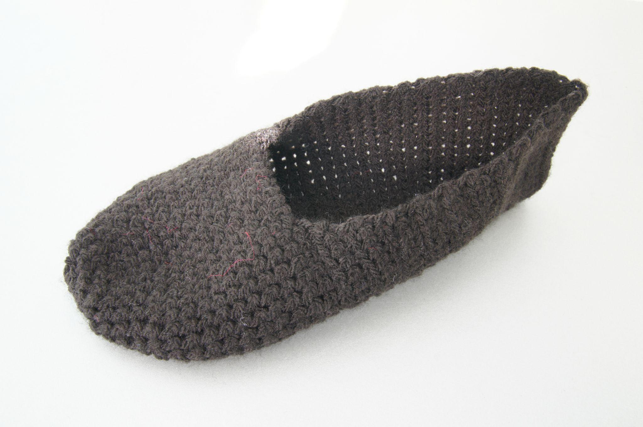 chausson crochet laine