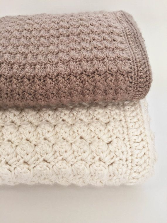 couverture crochet grosse laine