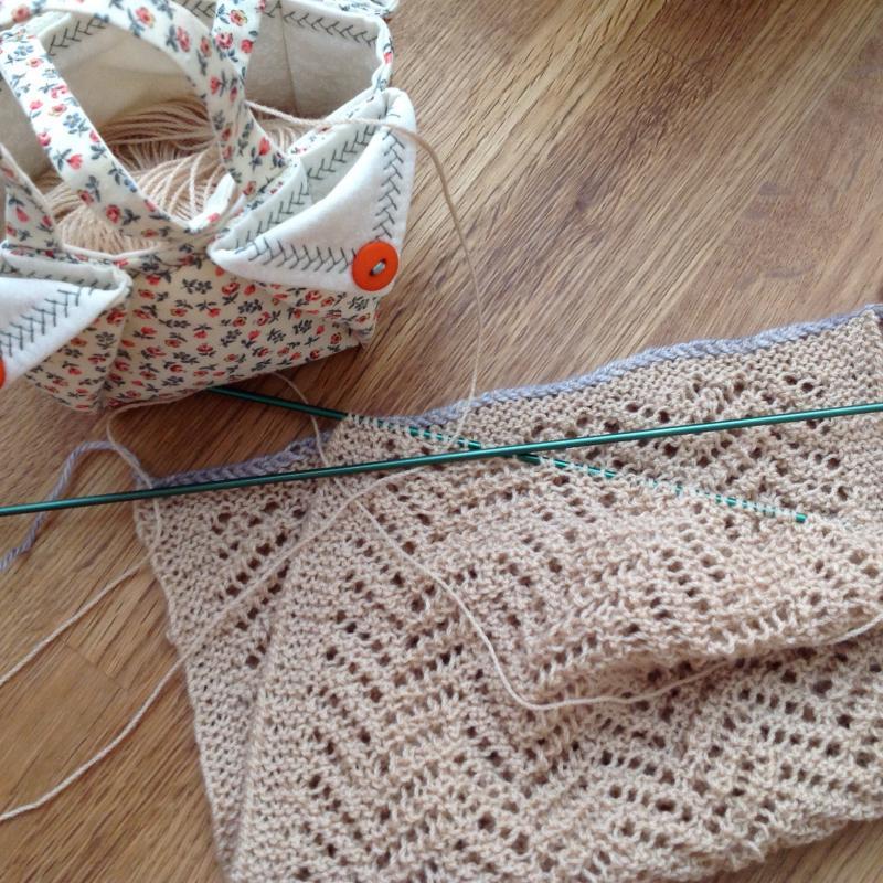 crochet avec laine fine
