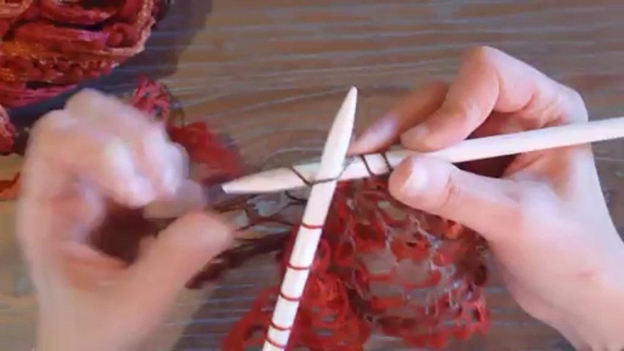 crochet avec laine ruban
