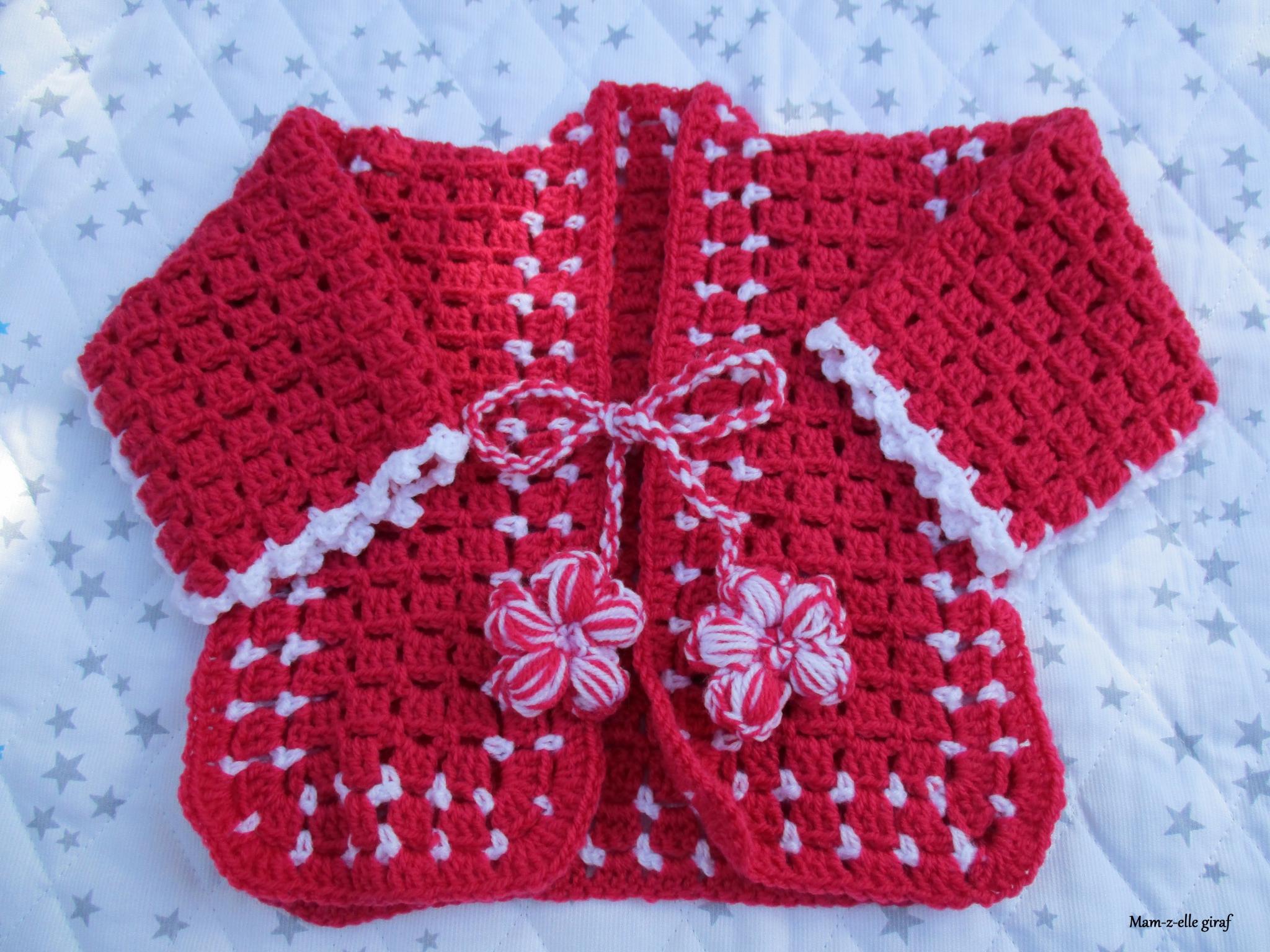 crochet bebe en laine