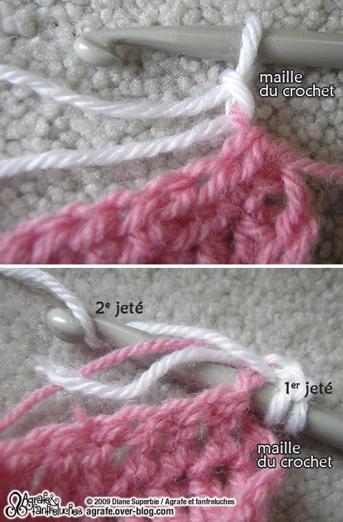 crochet changer de laine