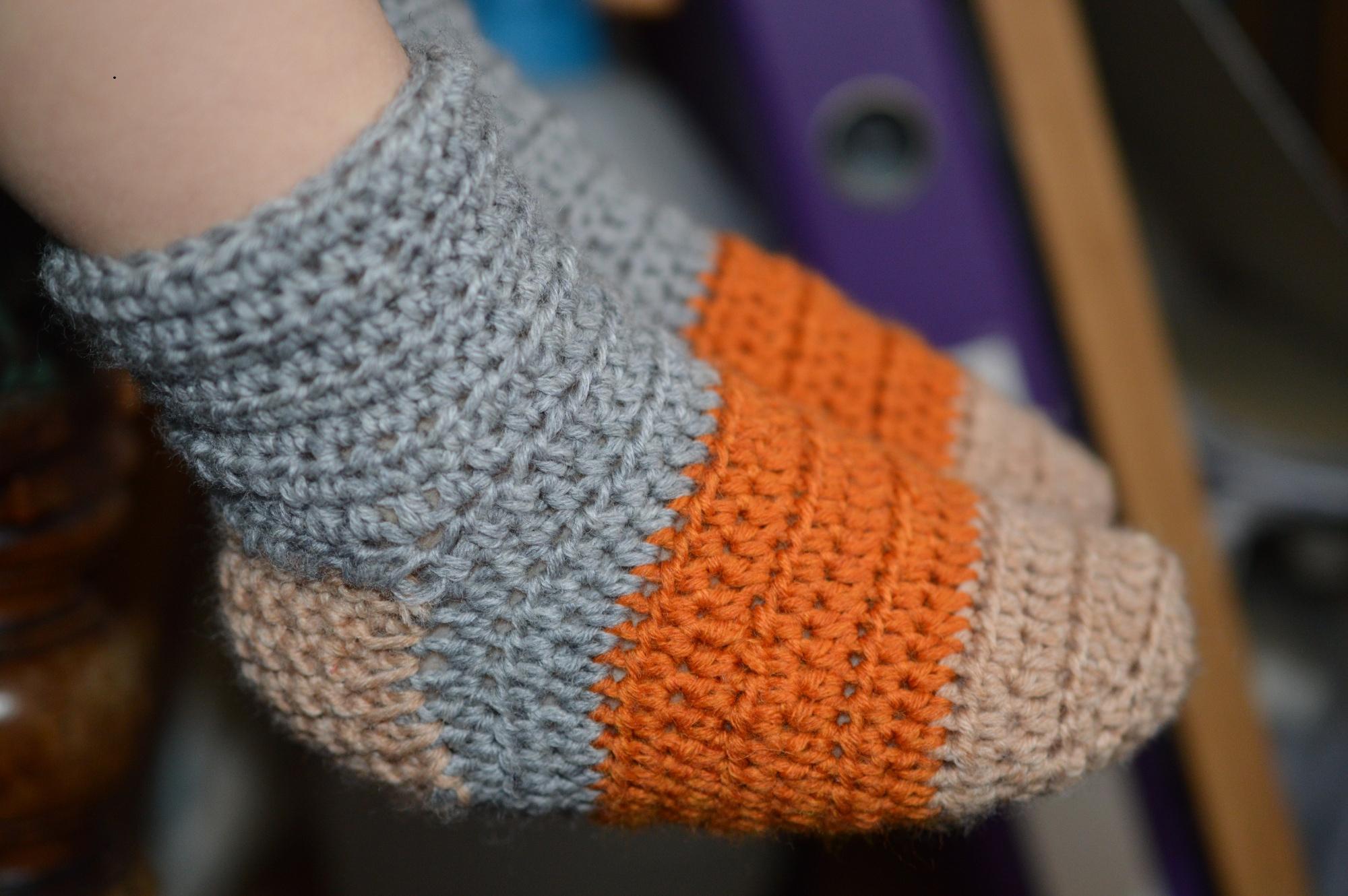 crochet chaussettes laine