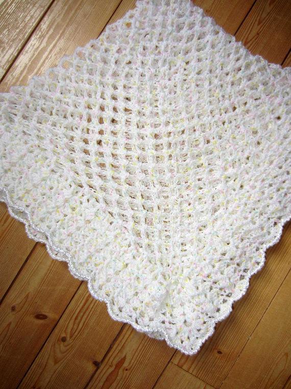 crochet laine blanche