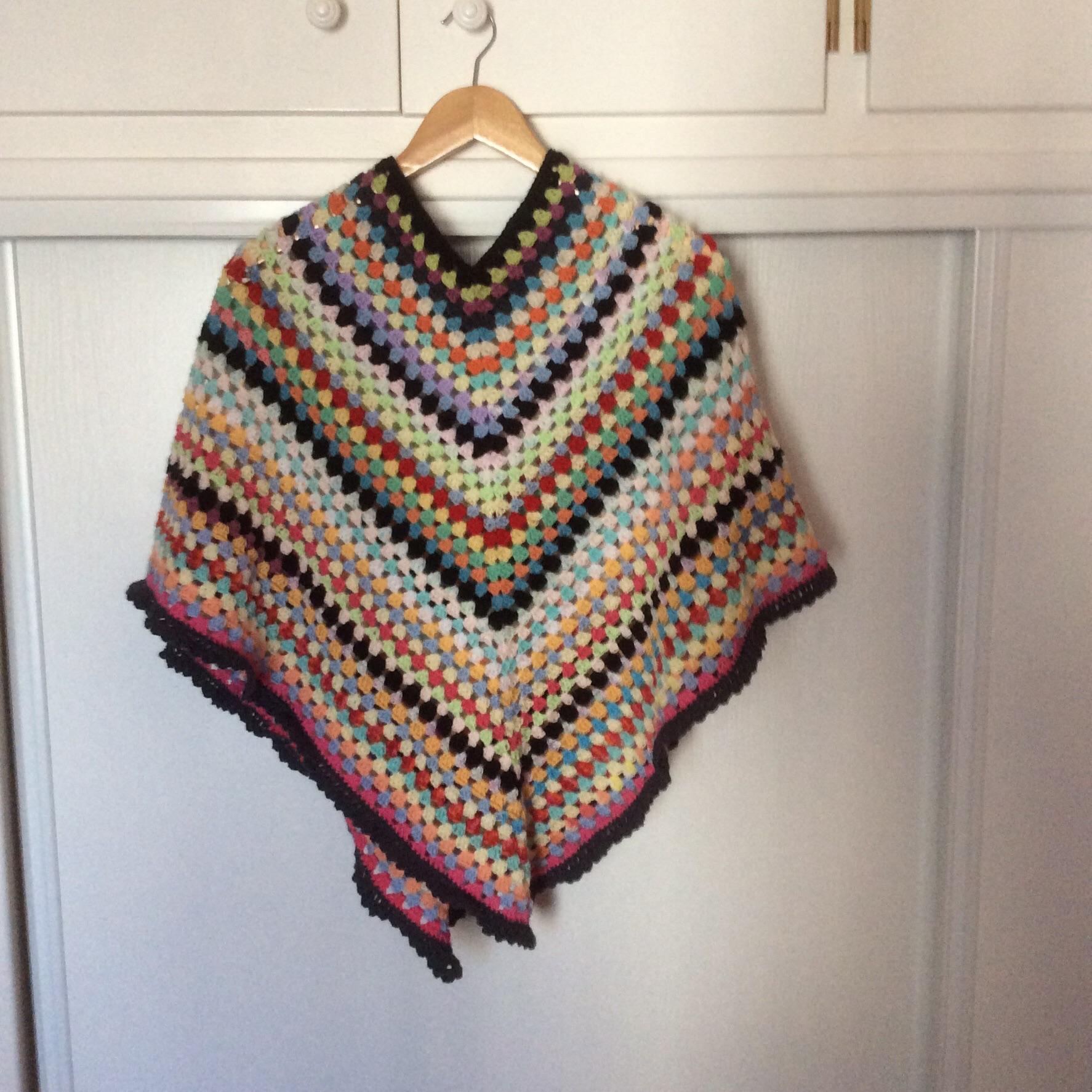 crochet laine poncho