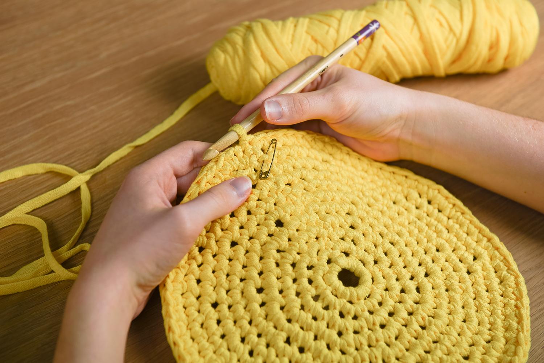crochet laine rond