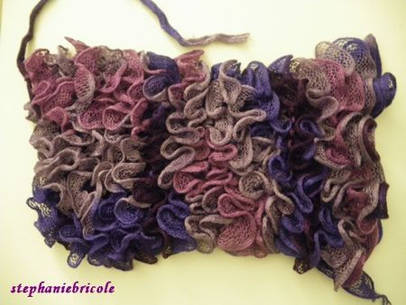 crochet laine ruban