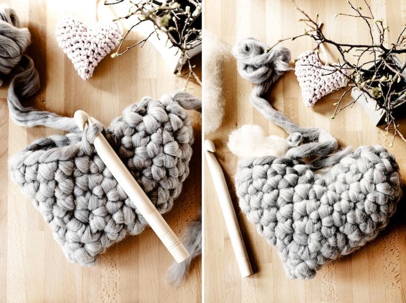 crochet pour grosse laine