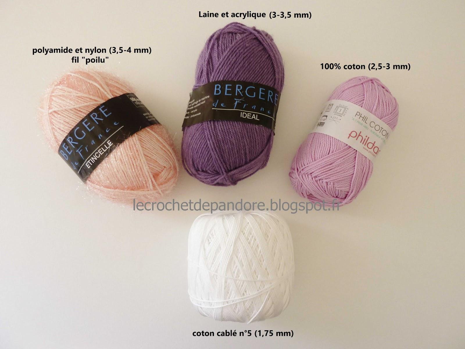 crochet pour la laine