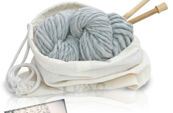 laine a tricoter avec aiguille 12