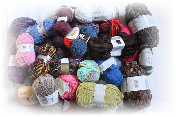 laine a tricoter en lot