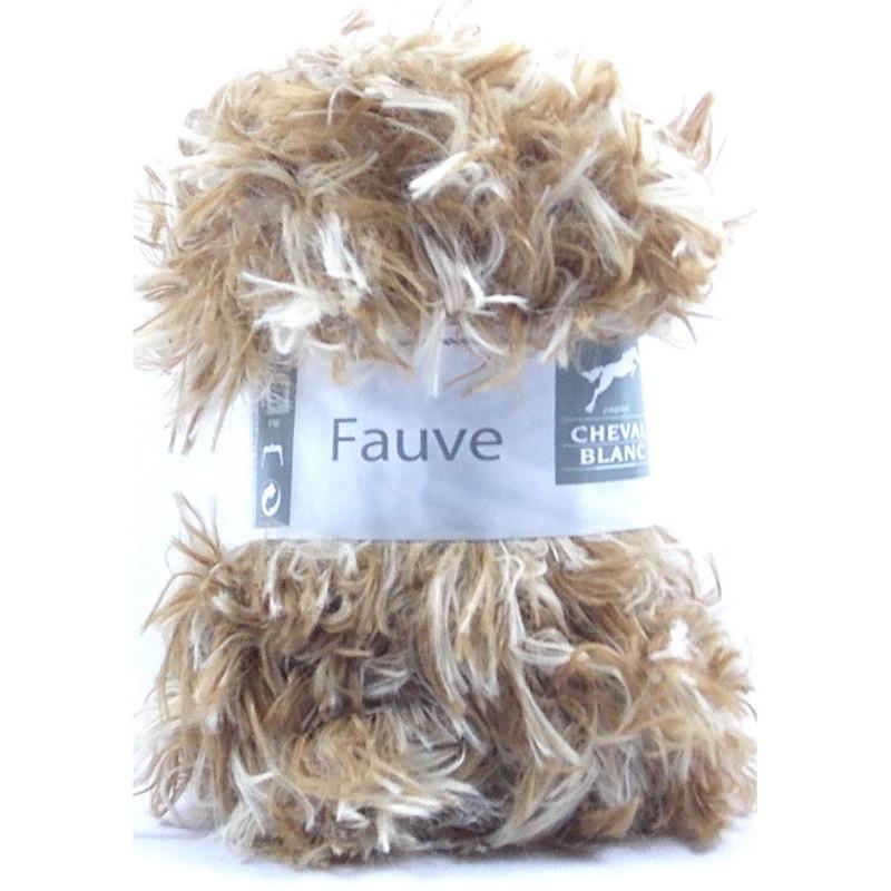 laine a tricoter fourrure fauve