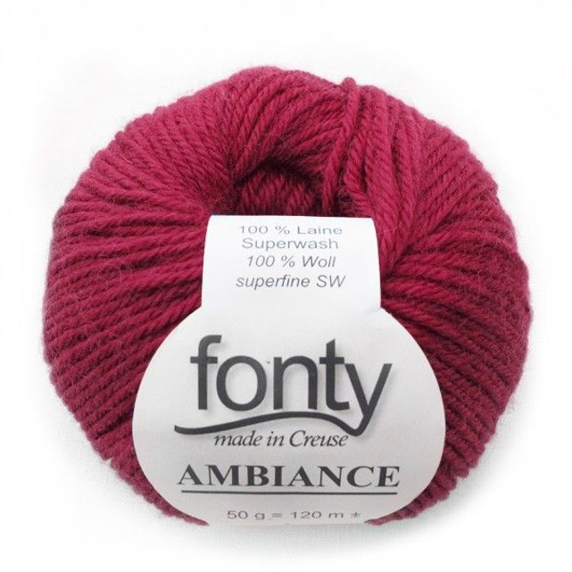 laine a tricoter framboise