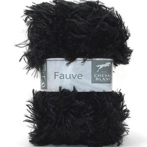 laine a tricoter noire