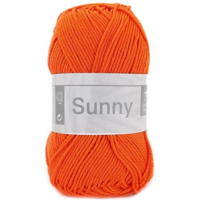 laine a tricoter orange