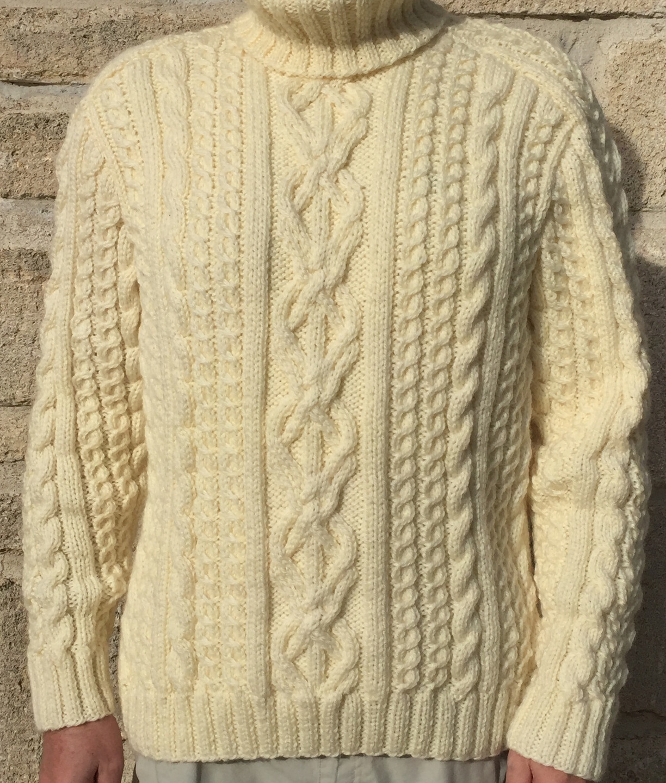laine a tricoter pour pull irlandais