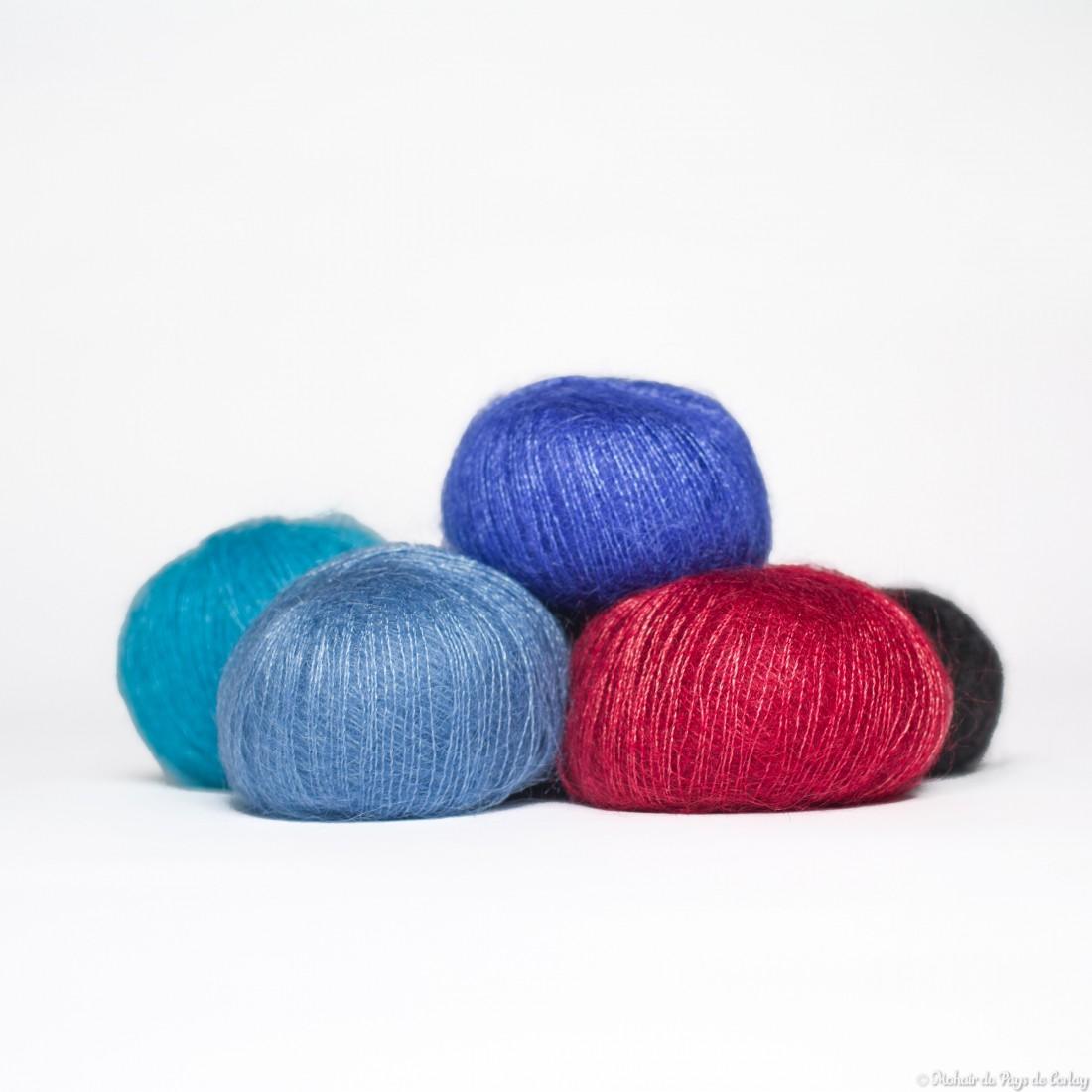 laine a tricoter soie