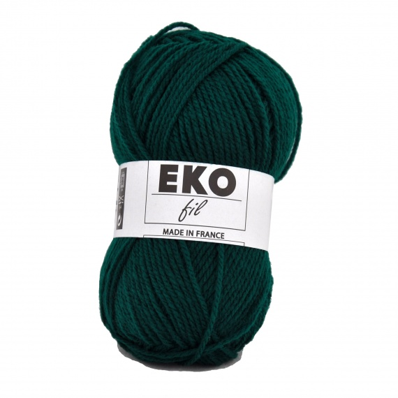 laine a tricoter verte