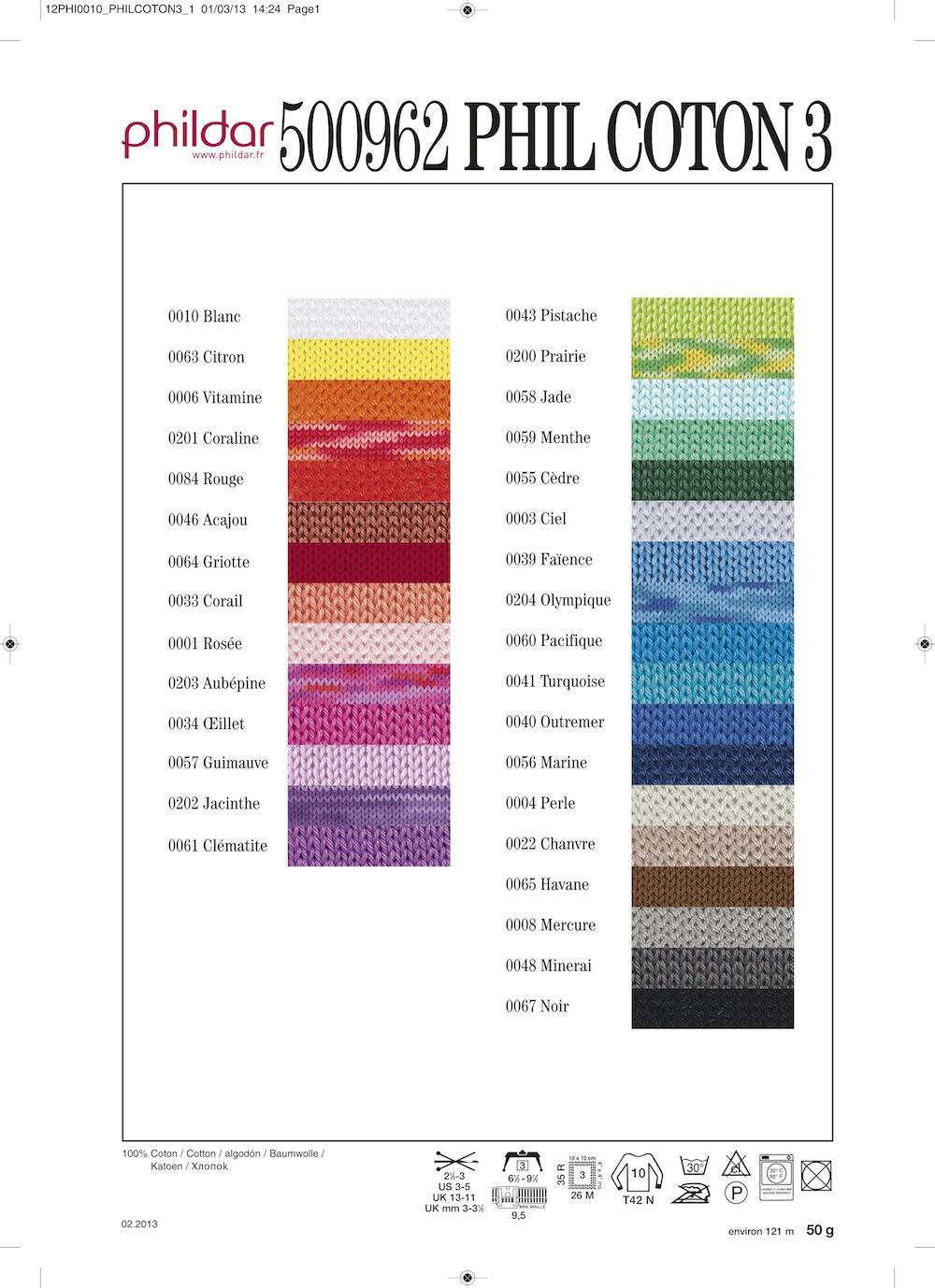 laine phildar coton 3