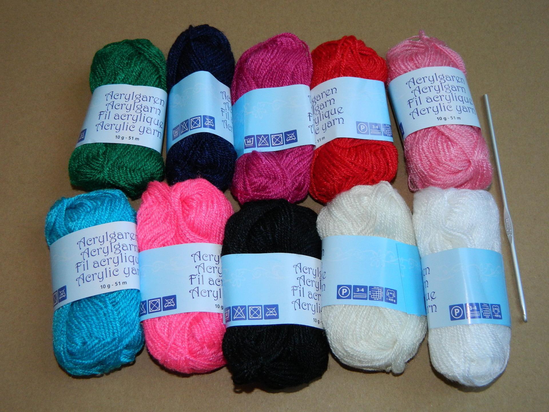 lot crochet laine