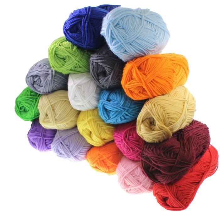 pelote de laine 100g pas cher