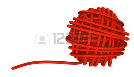 pelote de laine 3d