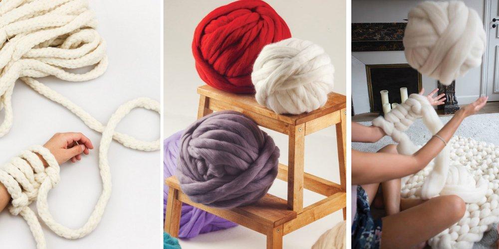 pelote de laine a tricoter a la main