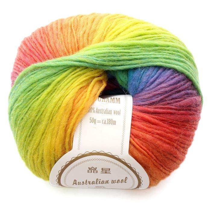 pelote de laine arc en ciel
