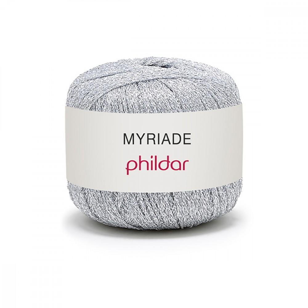 pelote de laine argente