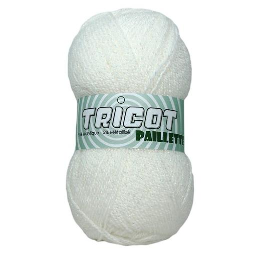 pelote de laine blanche