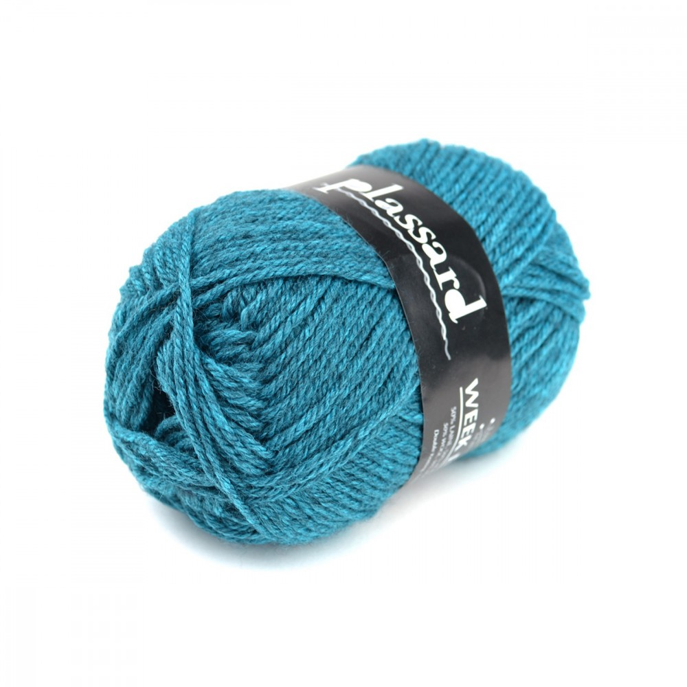 pelote de laine bleu canard