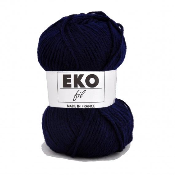 pelote de laine bleu marine