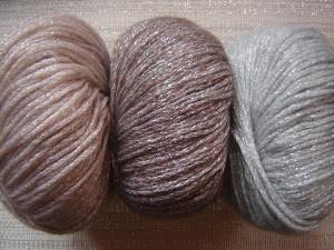 pelote de laine brillante