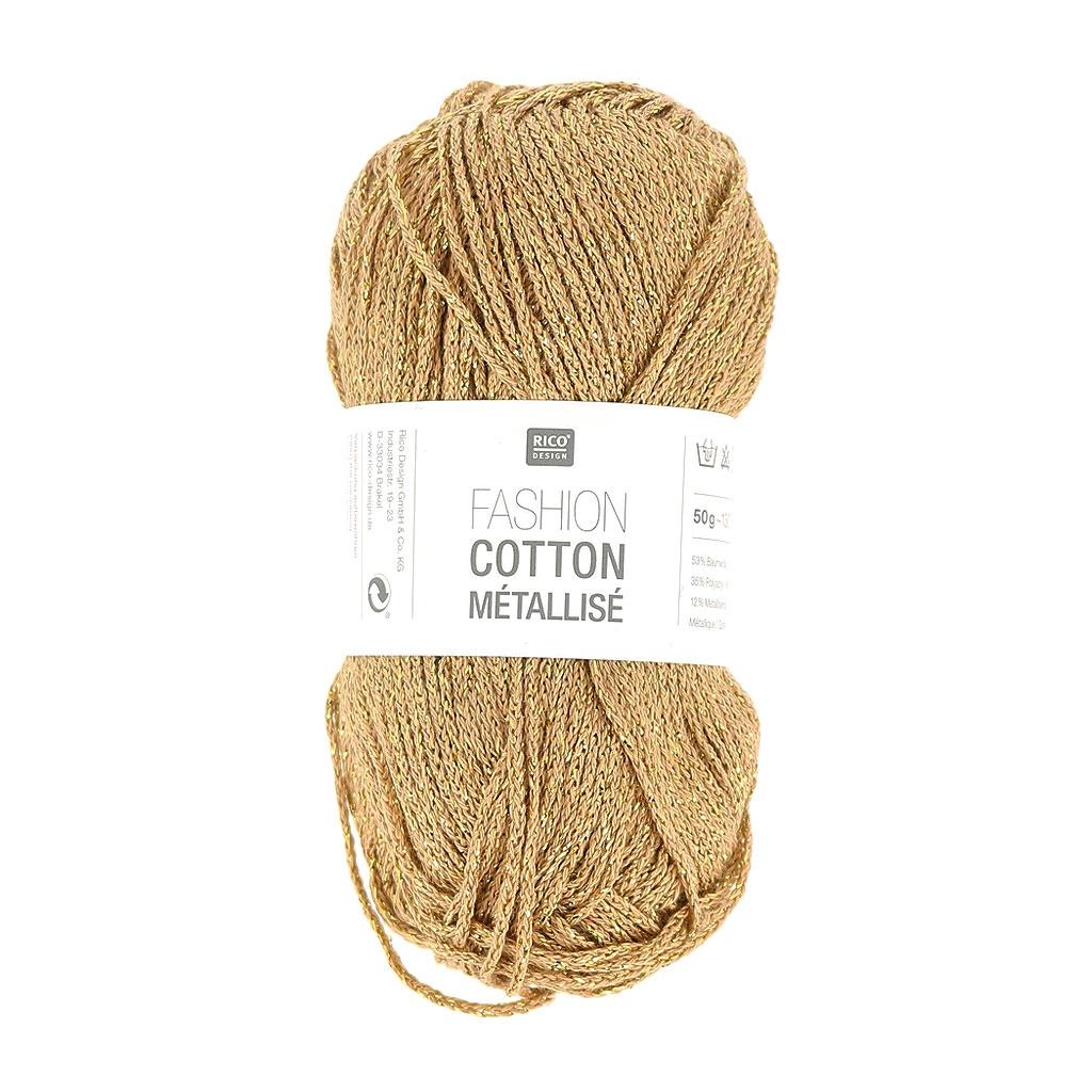pelote de laine couleur or