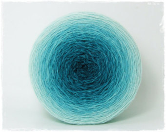pelote de laine degradee