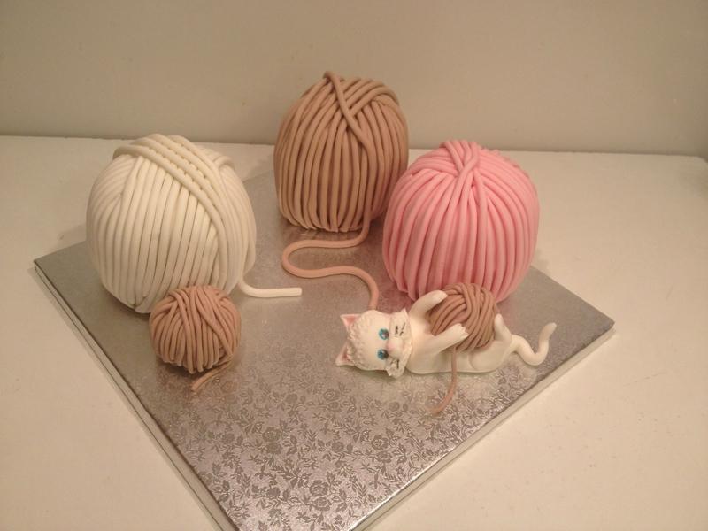pelote de laine en pate a sucre