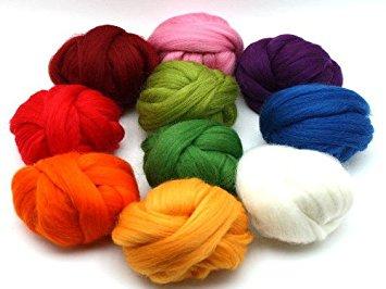 pelote de laine feutree