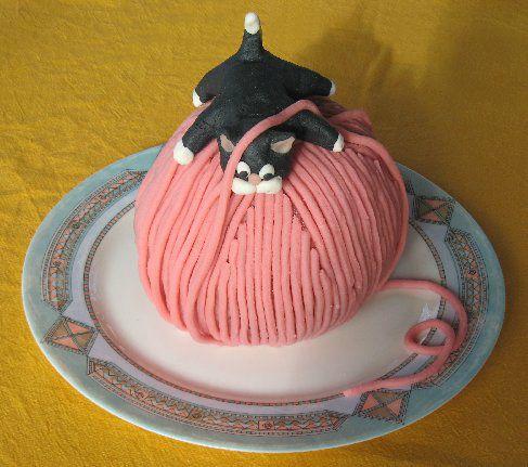 pelote de laine fimo