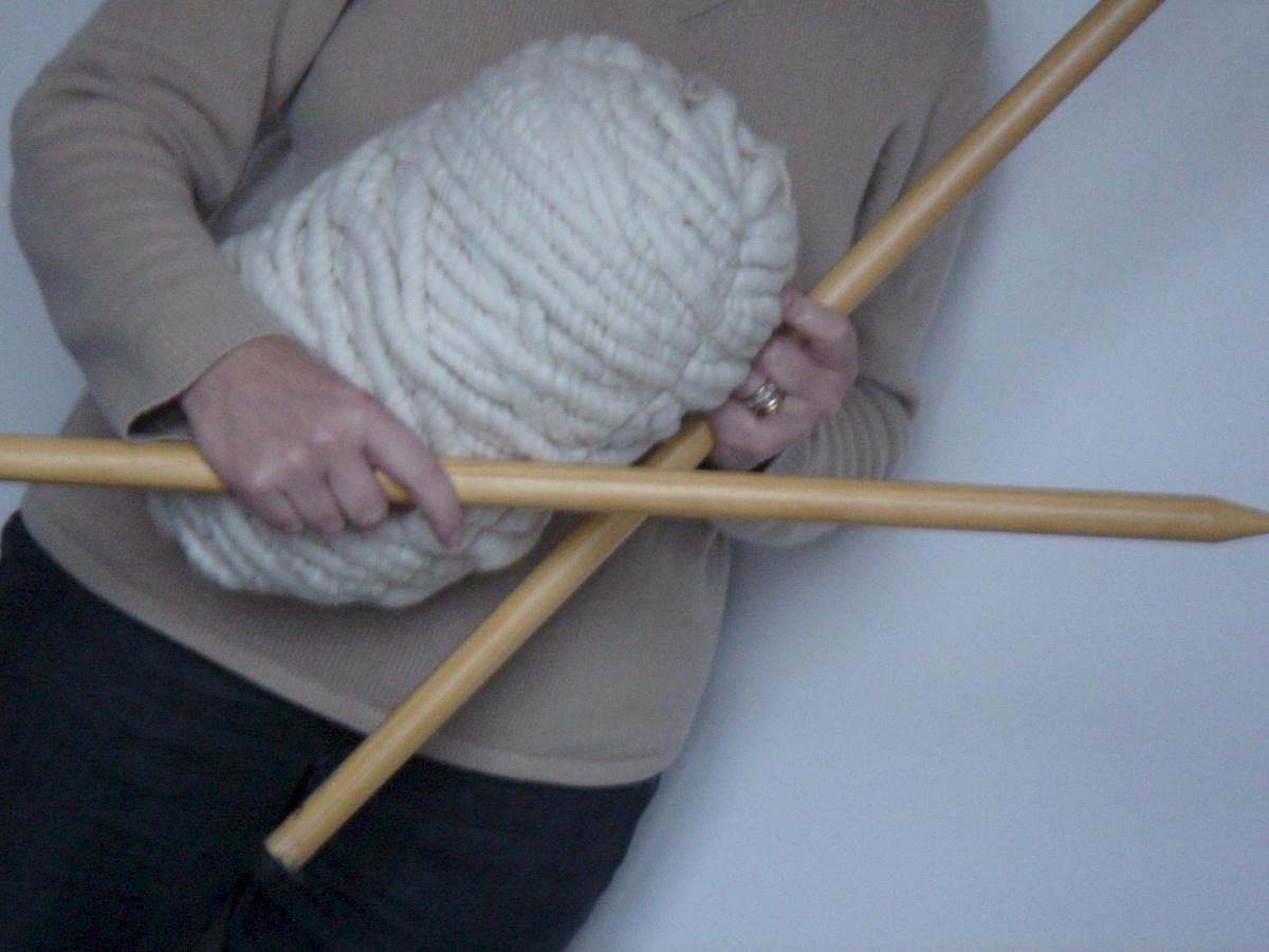 pelote de laine grosse maille
