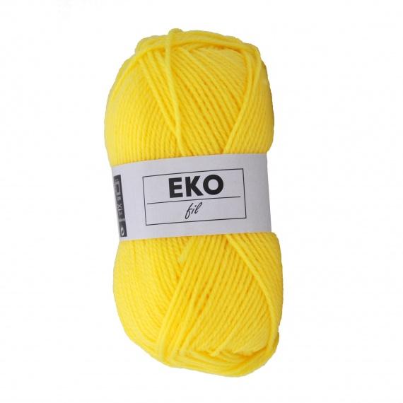 pelote de laine jaune