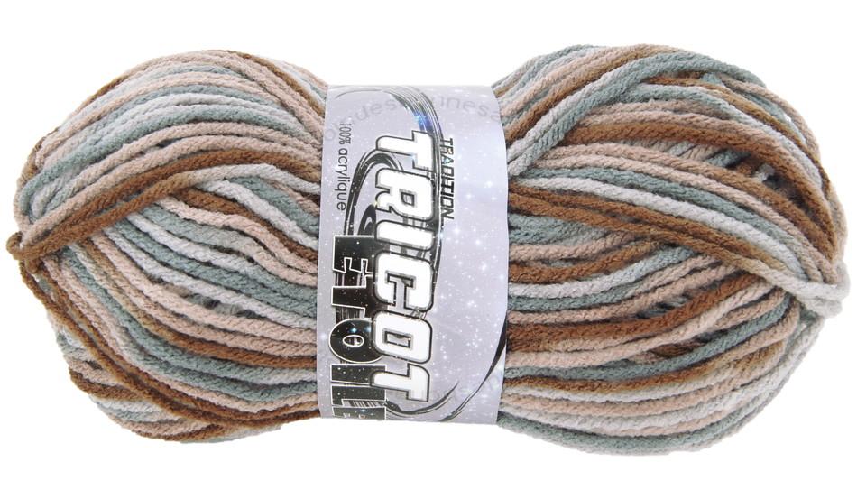 pelote de laine marron