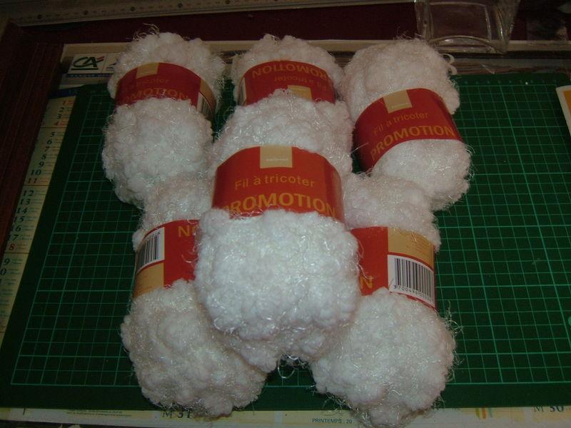pelote de laine pour echarpe