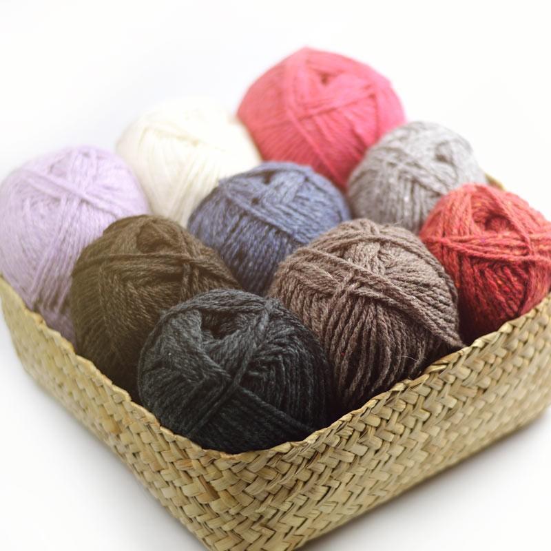 pelote de laine recyclee