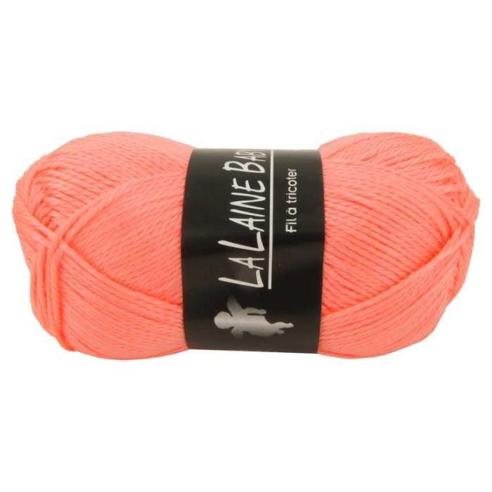 pelote de laine saumon