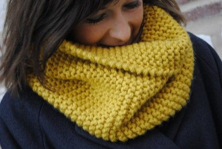 pelote de laine snood