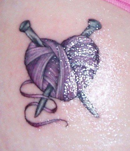 pelote de laine tatouage