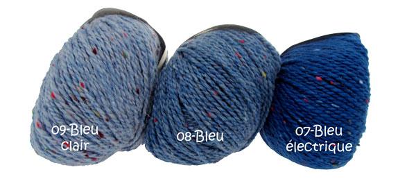 pelote de laine tweed